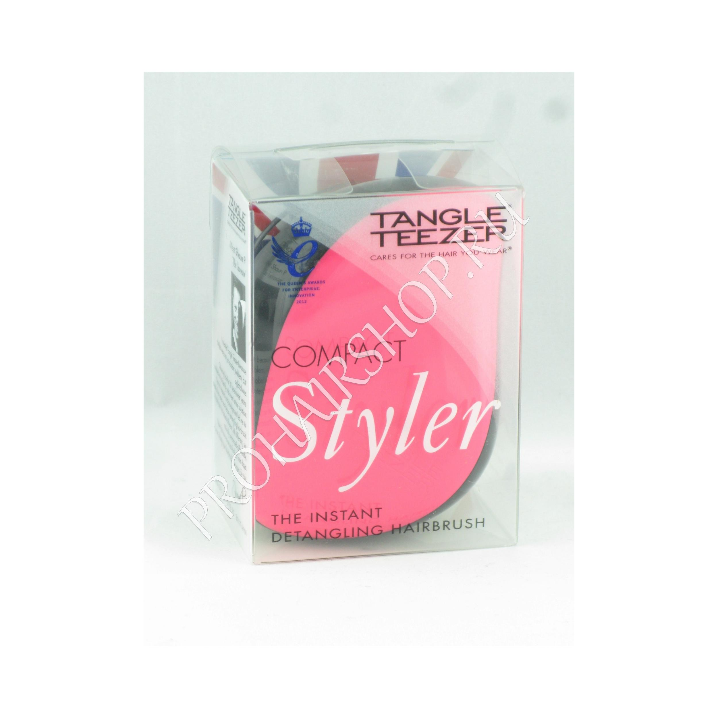 Tangle Teezer - COMPACT PINK SIZZLE (BLACK-PINK / Розово-Черная)