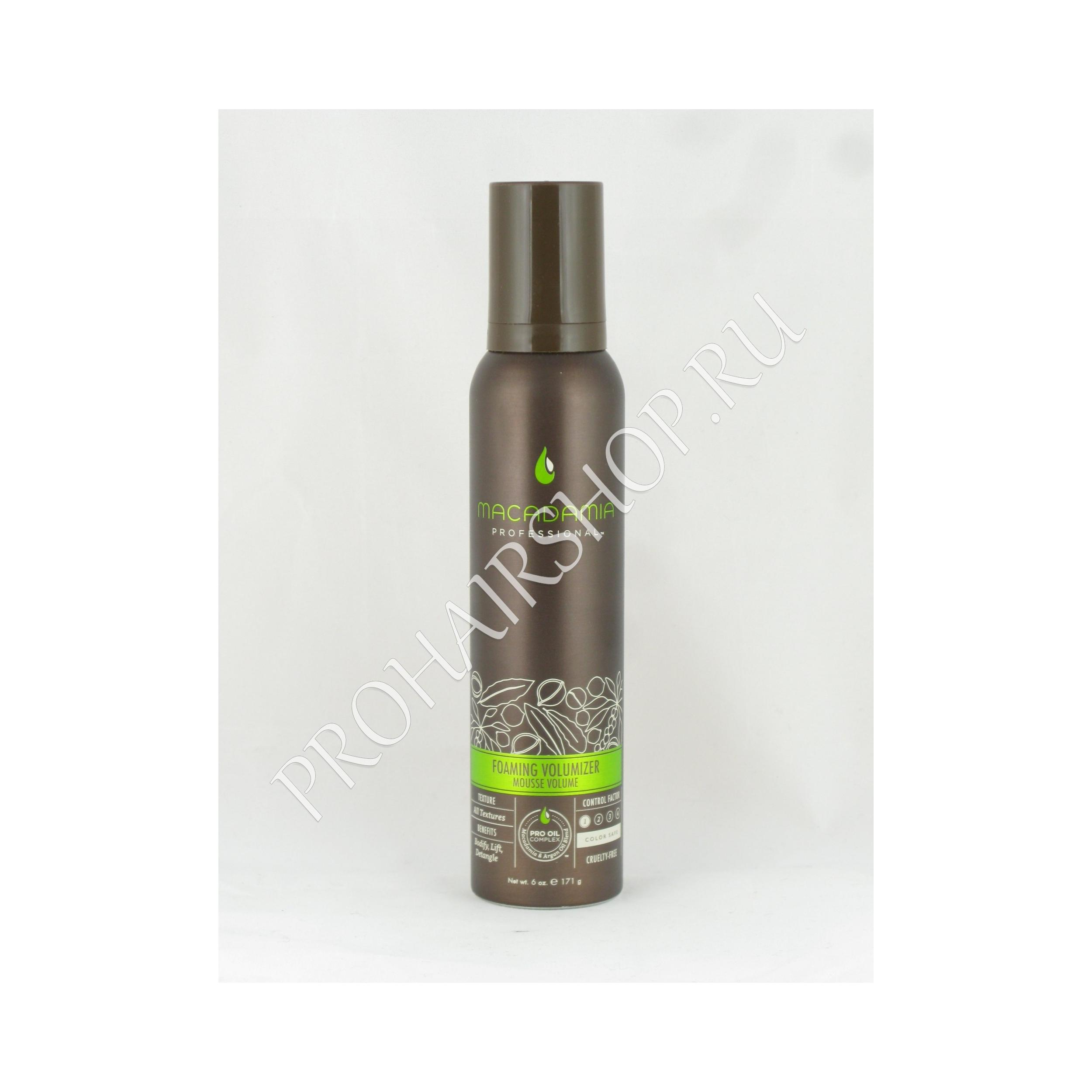 Macadamia PROFESSIONAL Foaming Volumizer Mousse Volume - Мусс для объема